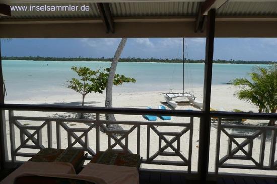 Maupiti Residence : Blick von der Veranda auf dei Lagune