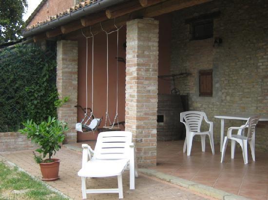 Agriturismo Ca Trinche: Garten und Aussicht