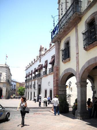 Queretaro, Meksiko: Palacio del Gobeirno (previously, Casa de la Corregidora) on the Plaza de Armas