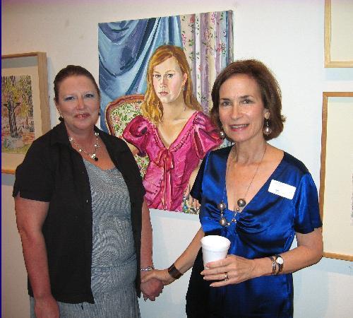 Del Mar College Art Gallery : Professor Dudics & her painting