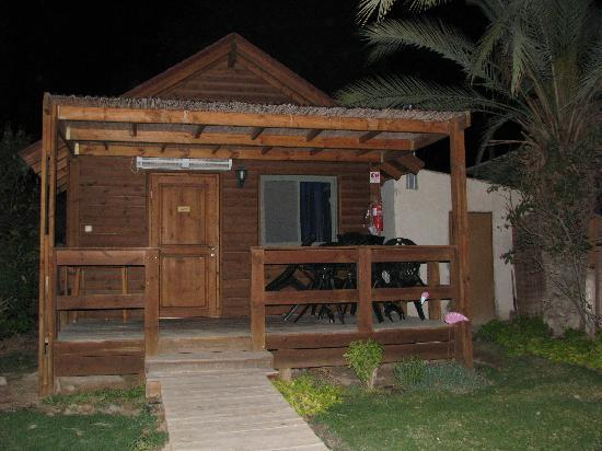 Neot HaKikar, Israel: outside view of the cabin