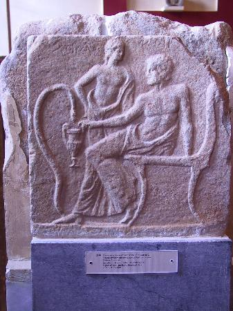 Archaeological Museum of Sparta : lakonian relief in Sparta museum