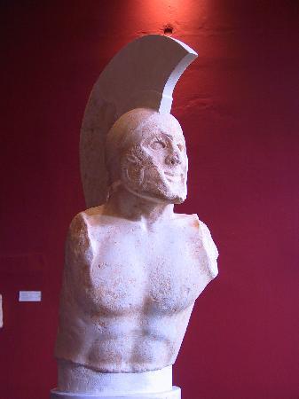 Archaeological Museum of Sparta: head of Leonidas