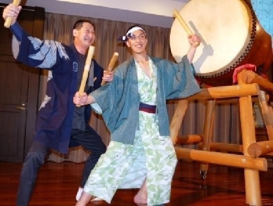 Ryokan Biyunoyado: 和太鼓ショー