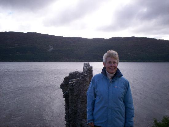 Melrose Villa: Me at the Dovecote, Urquhart Castle on Loch Ness