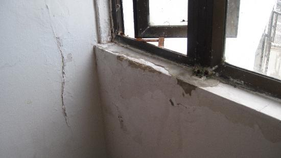 Hotel Blue Tone: La ventana de nuestra primera habitación