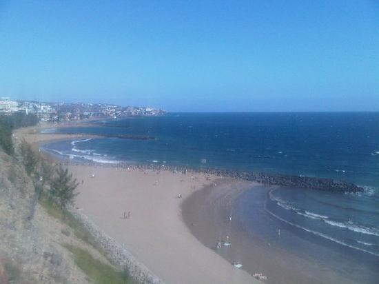 Green Park Apartments: The beach from the promenade on cliff top