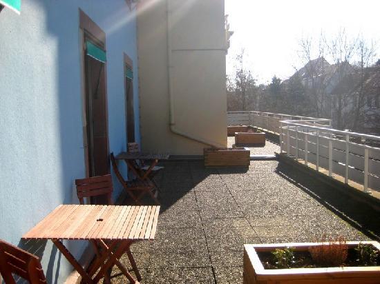 Hotel Du Parc : Terrasse chambre (arrière)