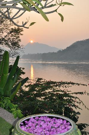 Mekong Estate: Coucher soleil de la piscine