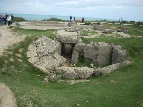 Pointe du Hoc: Gun emplacements took heavy shelling for several days before the assault.