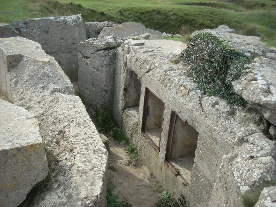 Pointe du Hoc: The Rangers took shelter in the destroyed bunkers after reaching the top.