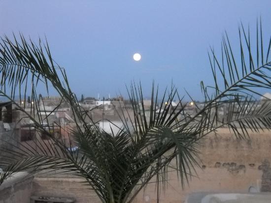 Riad Kheirredine: Riad - terrazza con luna piena
