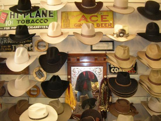 Ruxton's Trading Post : Hundreds of cowboy hats.