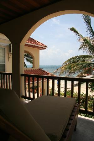 The Palms Oceanfront Suites: from the balcony of #21