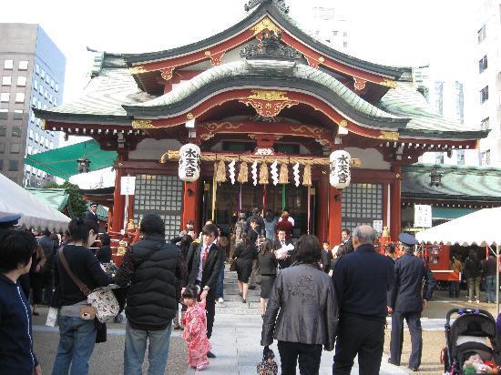 Tokyo Hotel Horidome Villa: Suitengu Shrine near the hotel