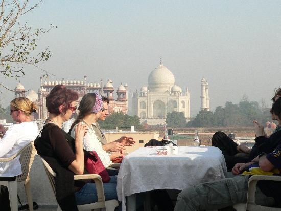 Hotel Kamal : vue depuis la terrasse de l'hôtel