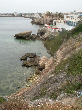 Mahdia, Túnez: Le restaurant en bord de mer