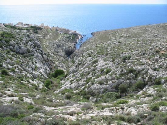 "Blue Grotto (Il-Hnejja) : bassin versant de la ""rivière"" de Zurrieq"