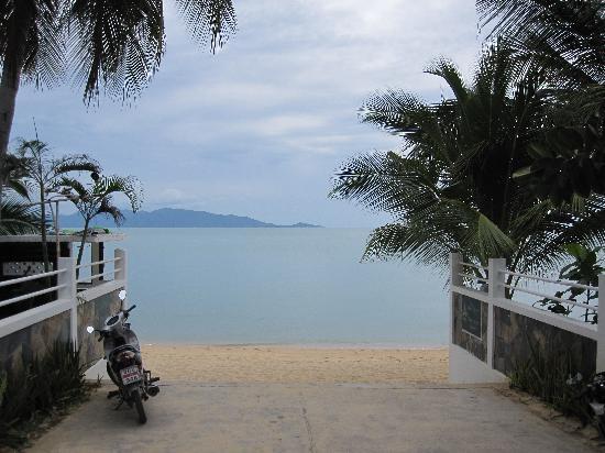 Mae Nam Resort: Blick vom Hotelgelände auf den Strand