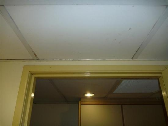 Rydges Plaza Cairns: Dirt, rust & grime on ceiling