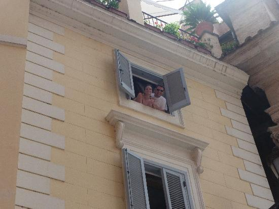 Relais Fontana Di Trevi: Picture taken of junior suite window from outside