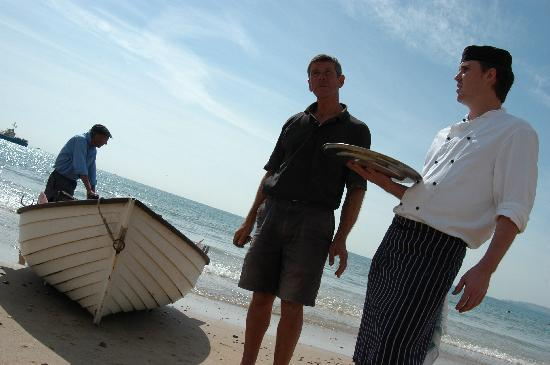 Fresh fish delivered directly to the WestBeach Chef by local fishermen