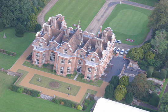 Barham, UK: An aerial view of Broome Park