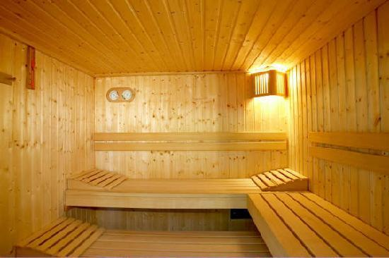 Barham, UK: The sauna at Broome Park Golf and Country Club
