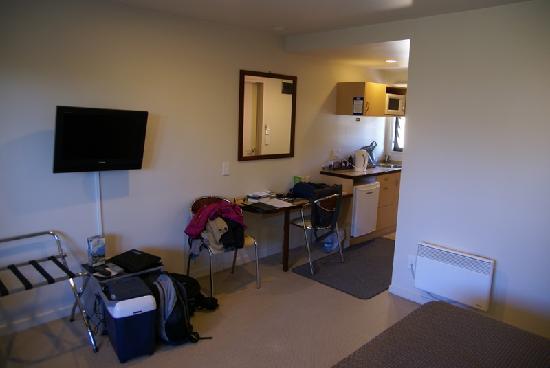 Nautilus Lodge Motel: Doppelzimmer mit Küche im Eingangsbereich