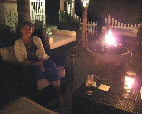 Seven Stars Resort & Spa: at the resort deck and fire pit