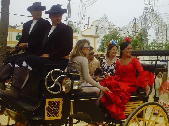 Jerez de la Frontera, España: Impressionen von der Feria - Kutschen