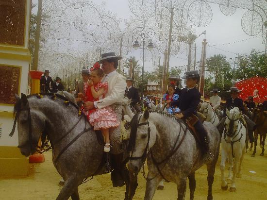 خيريز دي لا فرونتيرا, إسبانيا: eine Woche Feria- Pferdemesse