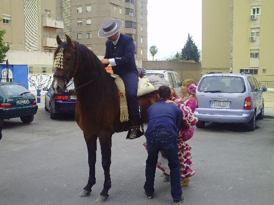Jerez de la Frontera, España: Gentleman hilft aufsitzen