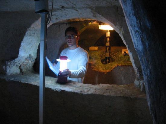 Crypte, catacombes et musée Sainte-Agathe : archéologue, lumière et mousse sur la pierre
