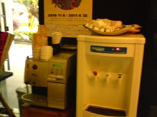 Hotel 73: Help your self coffee machine at Hotel Lobby