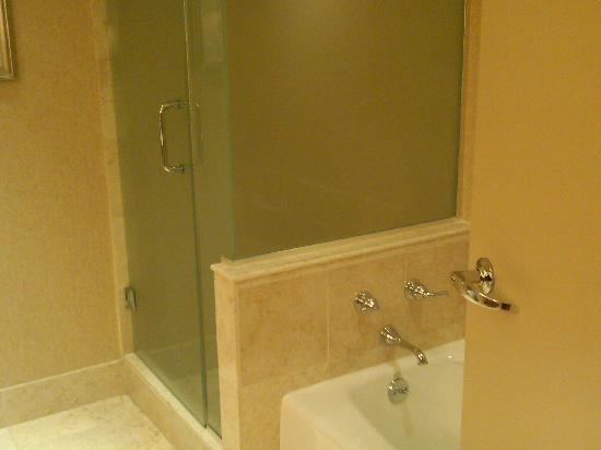 InterContinental Hotel Cleveland: roomy shower and very long tub