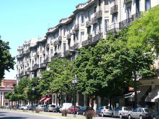 The prettiest block in San Telmo--where Caseros is.