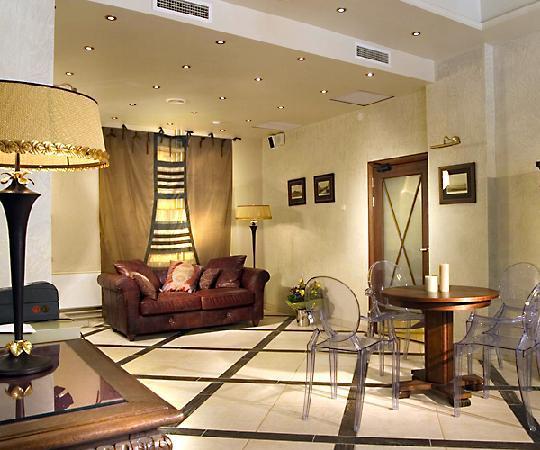 The Brothers Karamazov Hotel: hotel lobby