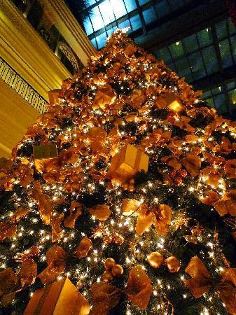 Grand Hyatt Taipei: ロビーのクリスマスツリー
