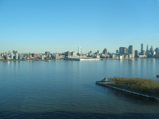 Hoboken, NJ: View of downtown NYC from our room