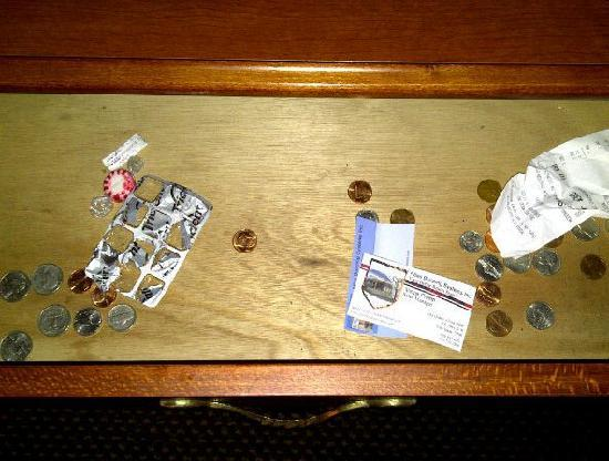 Quality Inn & Suites: This is what I found in the desk drawer