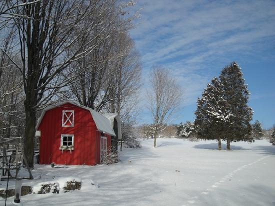 winter scene in st armand picture of saint armand quebec