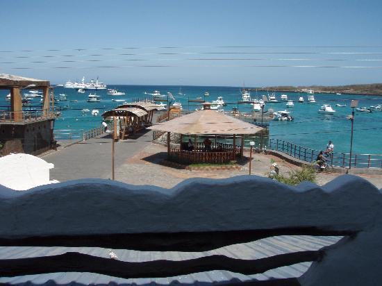 Casa Blanca: view of bay from front door of room