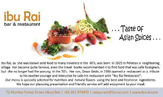 Ibu Rai Bar & Restaurant: bridge & groom