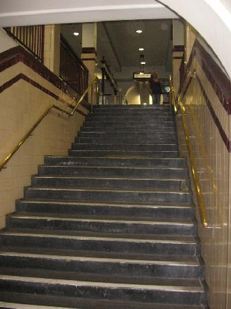 2nd flight of stairs to exit gates picture of hyde park