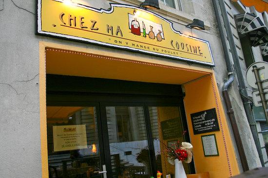 Chez Ma Cousine: restaurant facade