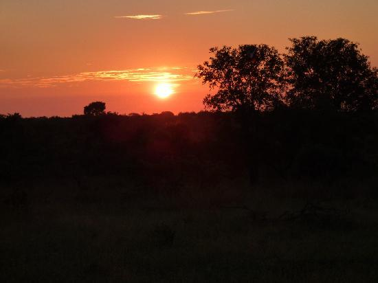andBeyond Ngala Safari Lodge: Sunset over the savannah - Only thing that compares, are the sunrises!