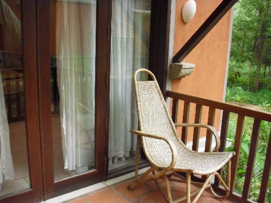 Poovar Island Resort: terrace of the land cottage