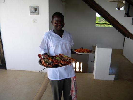 Mkoko House: kocken Idi, med hummer mmm..