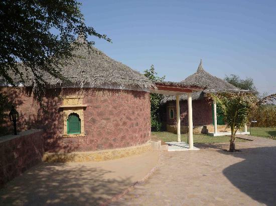 Mirvana Nature Resort and Camp: Runde Bungalow bei uns die Doppelzimmer
